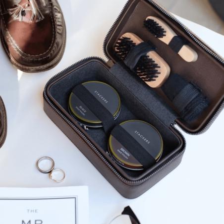 Zestaw do czyszczenia obuwia brązowy Stackers