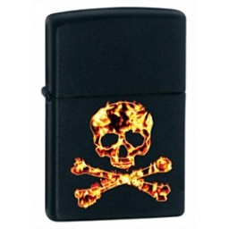 Zapalniczka Zippo Fire Skull, Black Matte
