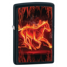 Zapalniczka Zippo Fire Horse, Black Matte