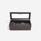 Pudełko na 4 zegarki brązowe Stackers