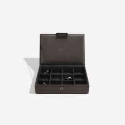Pudełko na spinki do mankietów i biżuterię brązowe Stackers