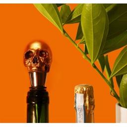 Zatyczka do butelki czaszka złota Iron & Glory  by Luckies