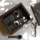 Pudełko na 8 zegarków brązowe Stackers