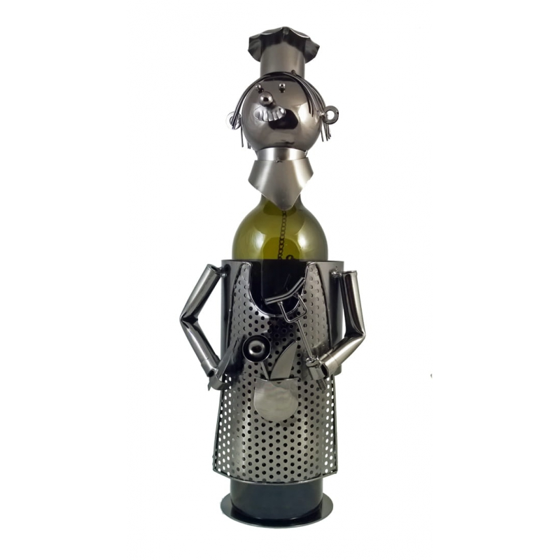 Stojak na butelkę wina Kucharz Szef Kuchni