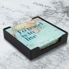 Podkładki pod szklanki na stół podróżnika mapa świata Widdop