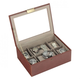 Pudełko na 8 zegarków czarne Stackers