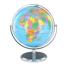 Klasyczny globus na chromowanej podstawce