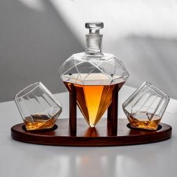 Diamentowy zestaw do whisky z karafką, szklankami i podstawką