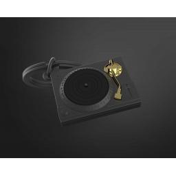 Breloczek gramofon czarny