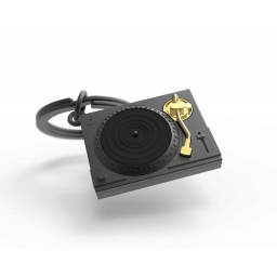Brelok gramofon czarny