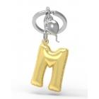 Brelok do kluczy litera M