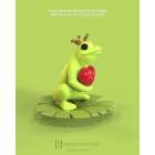 Brelok do kluczy żaba w koronie