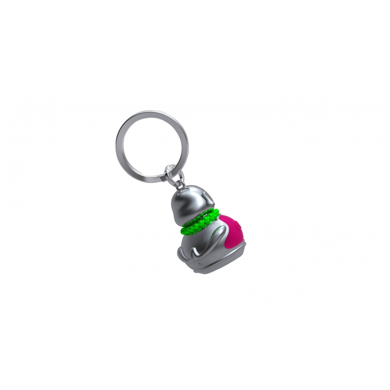 Breloczek budda różowy - Metalmorphose