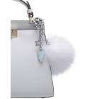 Zawieszka do torebki chmurki z pomponem