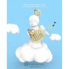 Brelok anioł cherubinek z harfą