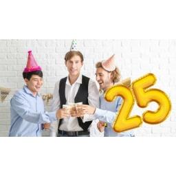 Prezent na 25 urodziny
