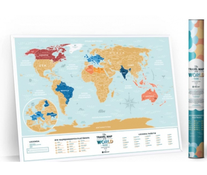 mapy świata zdrapki